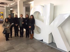 Comitiva goiana em visita ao Skolkovo Innovation Center, na Rússia.