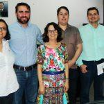 Presidente da Fapeg, Zaira Turchi, e representantes da AJE Goiás.