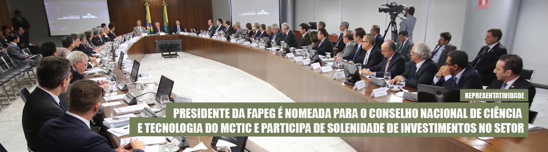 Presidente da Fapeg integra Conselho Nacional de Ciência e Tecnologia