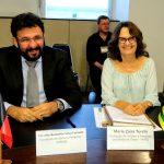 Zaira Turchi (Fapeg) e Cláudio Furtado (Fapesq), presidente e vice-presidente eleitos do Confap.