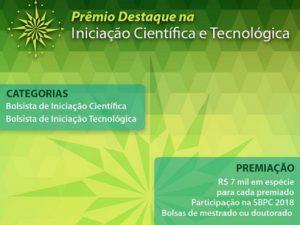 Prêmio Destaque na Iniciação Científica e Tecnológica