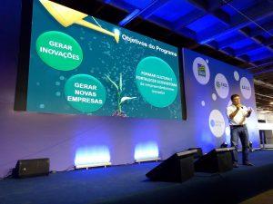 Marcelo Carmargo palestrante no lançamento do Programa Centelha
