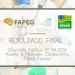 rESULTADO FINAL FAPEG/FAPESP
