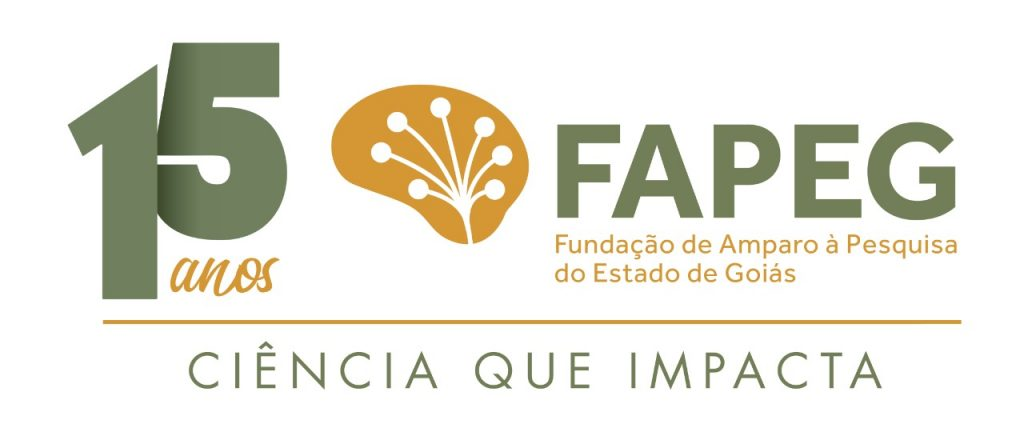 Selo comemorativo 15 anos FAPEG