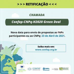 CHAMADA CONFAP-CNPQ-H2020 GREEN DEAL